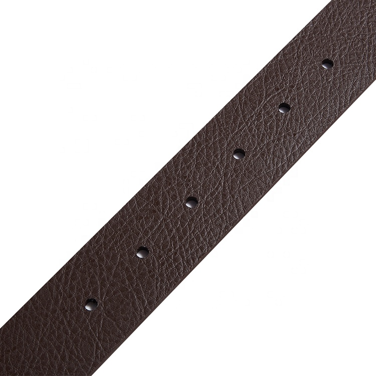 High Quality Hot Sell Black Plain Synthetic Leather Alloy Pin Buckle Belt